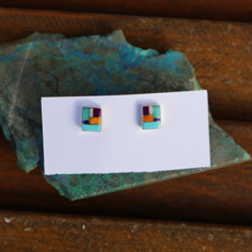 Sterling | Turquoise + Various Stone Earrings