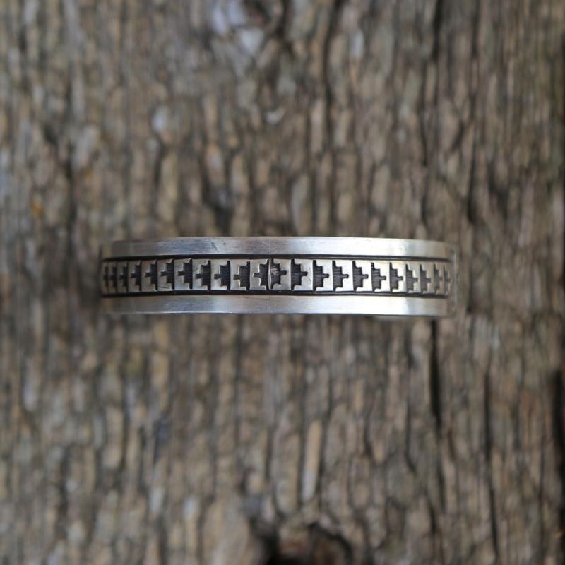 Sterling | Stamped Cuff