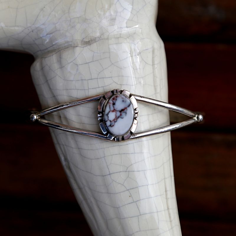 Sterling | White Buffalo Cuff