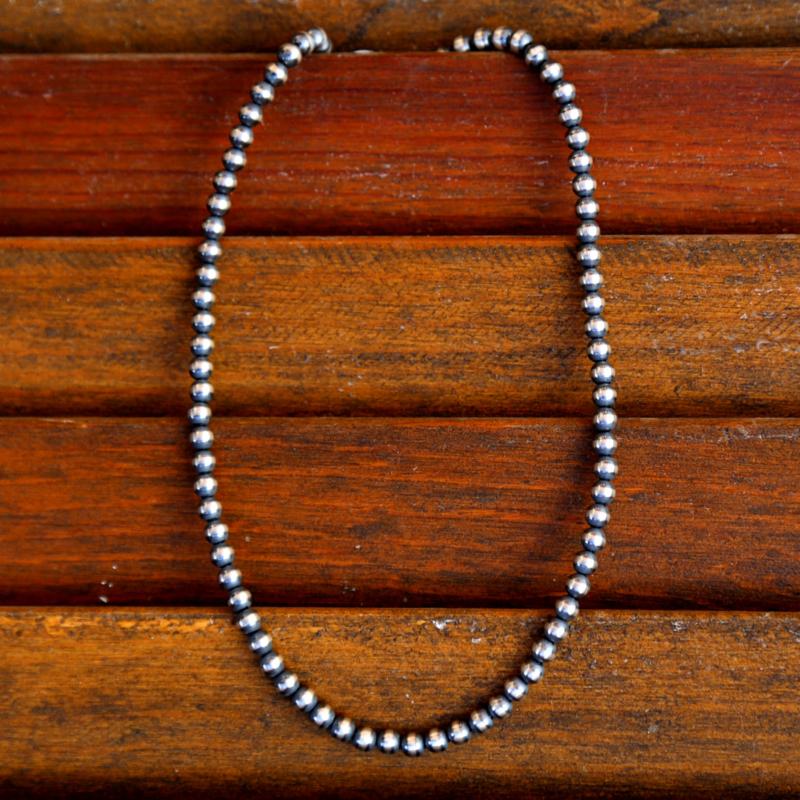 """Sterling   Navajo Pearls 16"""""""
