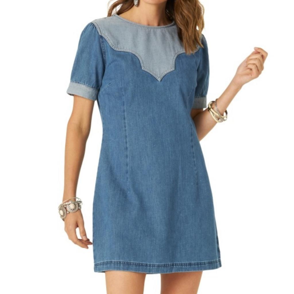 Wrangler   Retro Western Yoke Dress