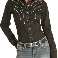 Rock & Roll Cowgirl | Embroidered Snap Shirt