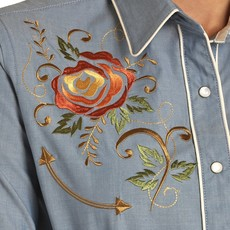 Rock & Roll Cowgirl | Retro Embroidered Snap Shirt