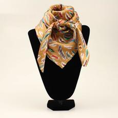 M&F Western | Silk Scarf, Feather Gold