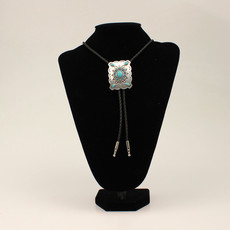 M&F Western   Turquoise Silver Bolo Tie