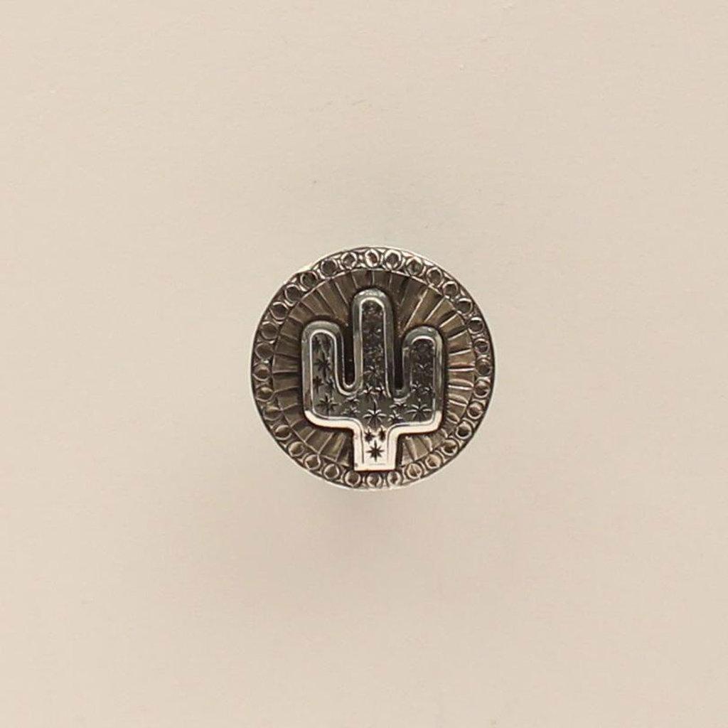 M&F Western | Scarf Slide, Silver Round Cactus