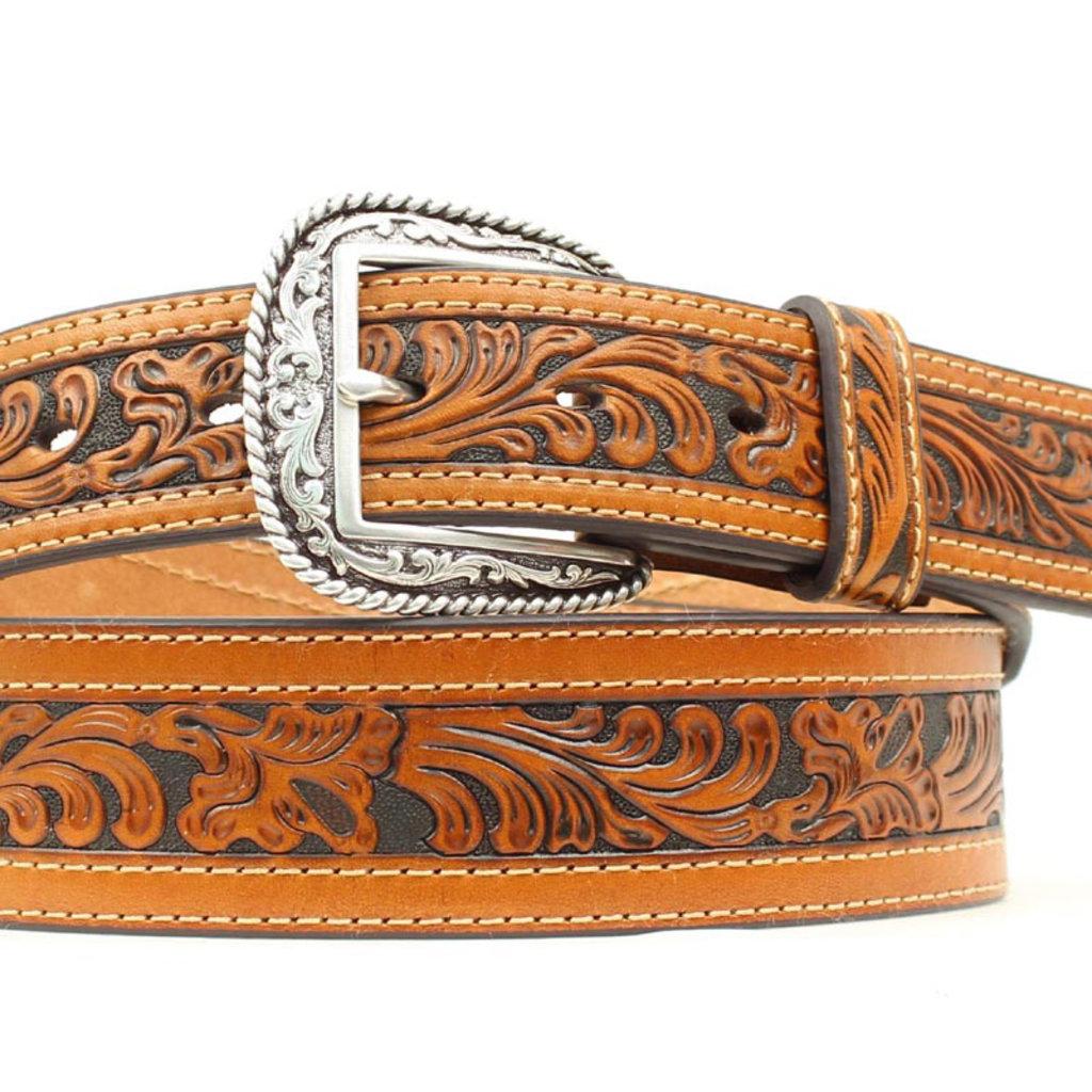 Ariat | Men's Western Floral Embossed Belt