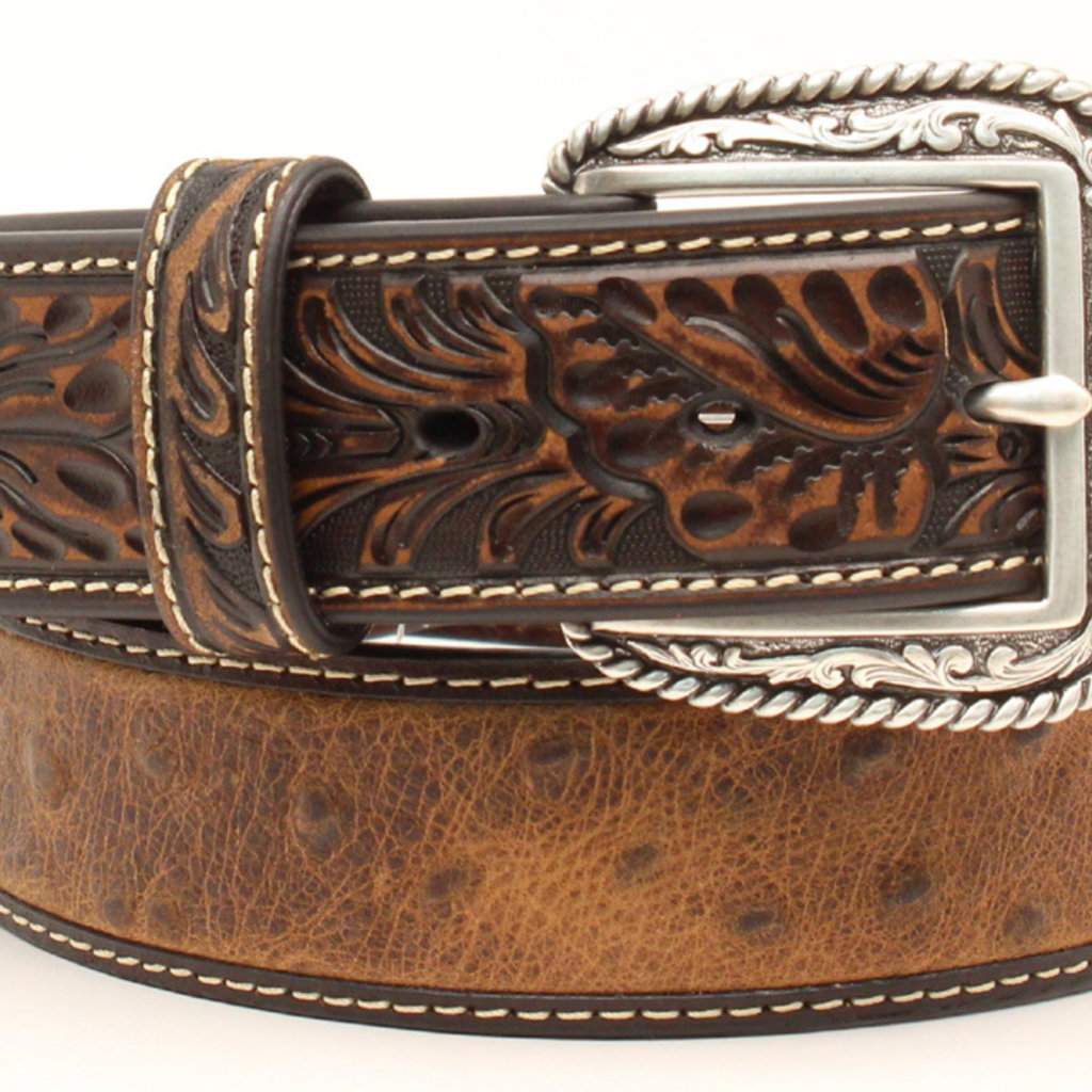 Ariat   Men's Western Tooled Leather Belt