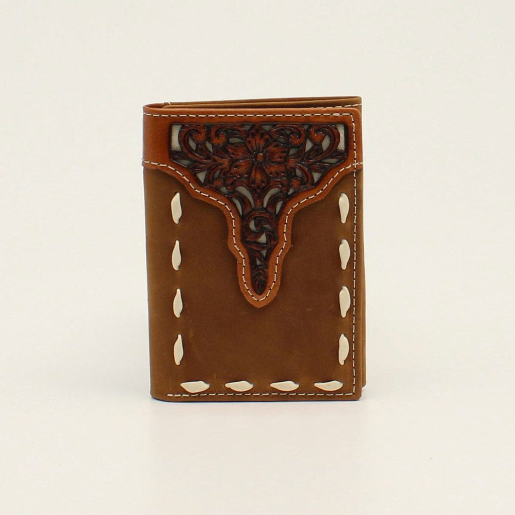Ariat | Trifold Floral Tooled Wallet