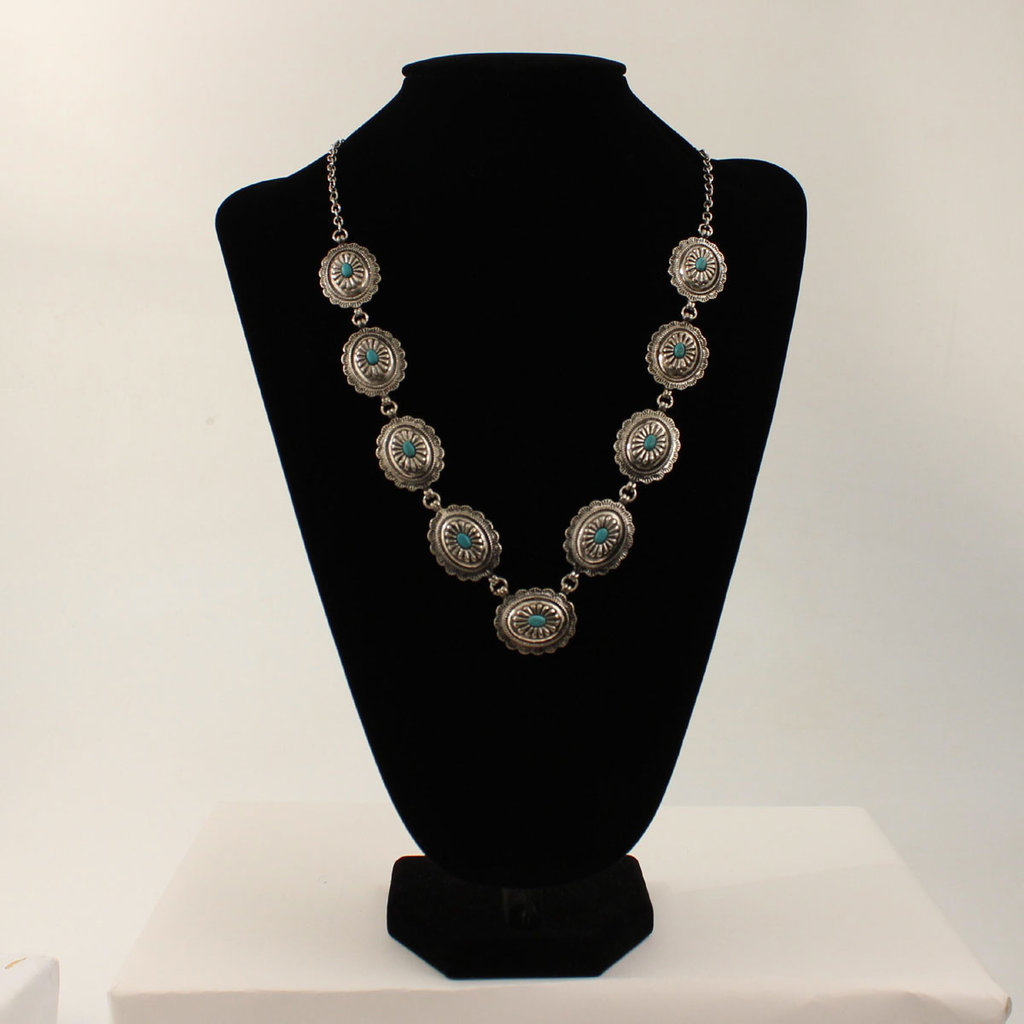 M&F Western | Silver Concho Necklace