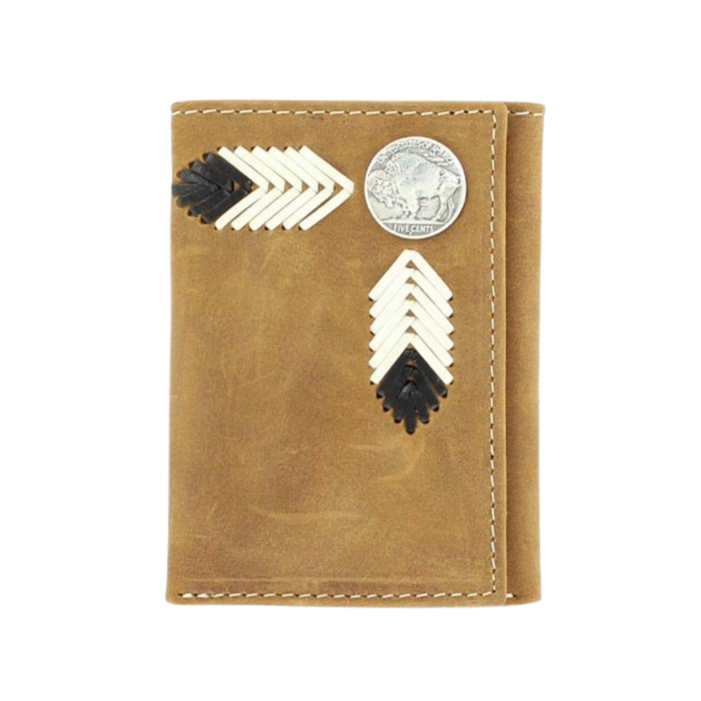 Nocona | Trifold Leather Buffalo Nickel Wallet