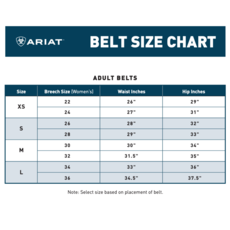 Ariat | Rectangle Concho Turquoise Belt