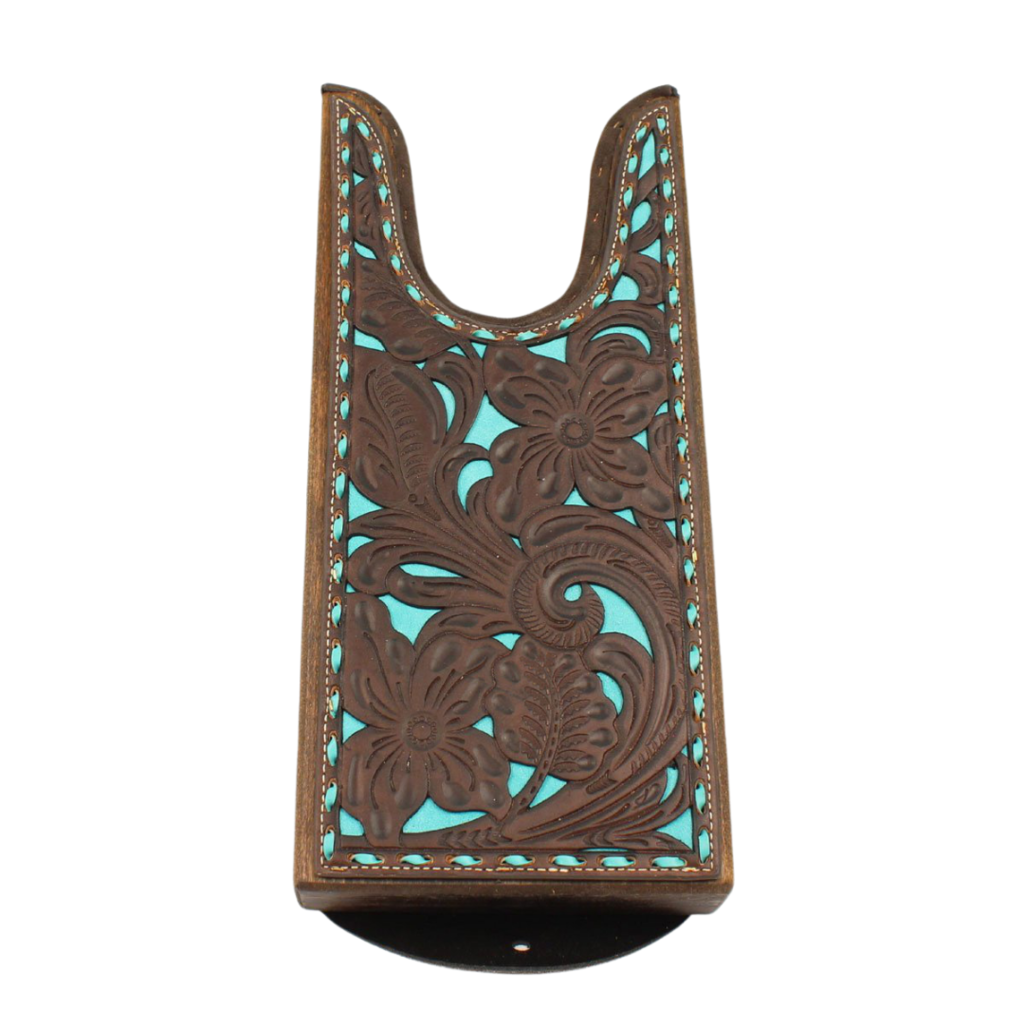 M&F Western | Tooled Leather Boot Jack | Teal