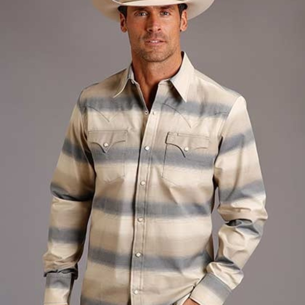 Stetson | Twill Stripe L/S Shirt