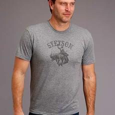 Stetson   Unisex Bucking Horse T-Shirt   Grey
