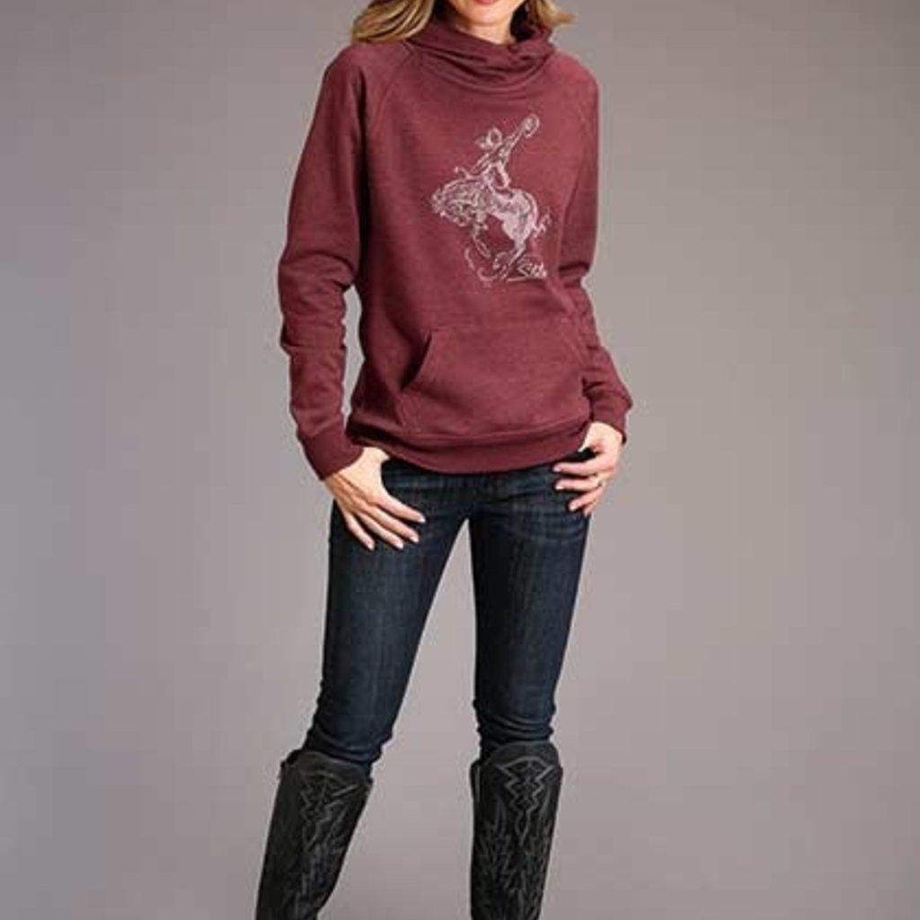 Stetson | Bucking Cowgirl Hoodie | Maroon Heather