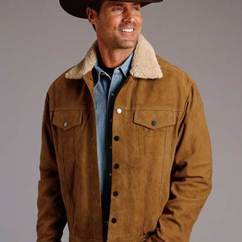 Stetson | Suede Shearling Collar Jacket