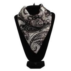 M&F Western   Paisley Black Silk Scarf