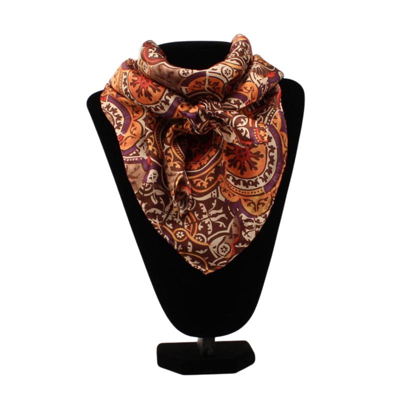 M&F Western   Silk Scarf, Floral Print