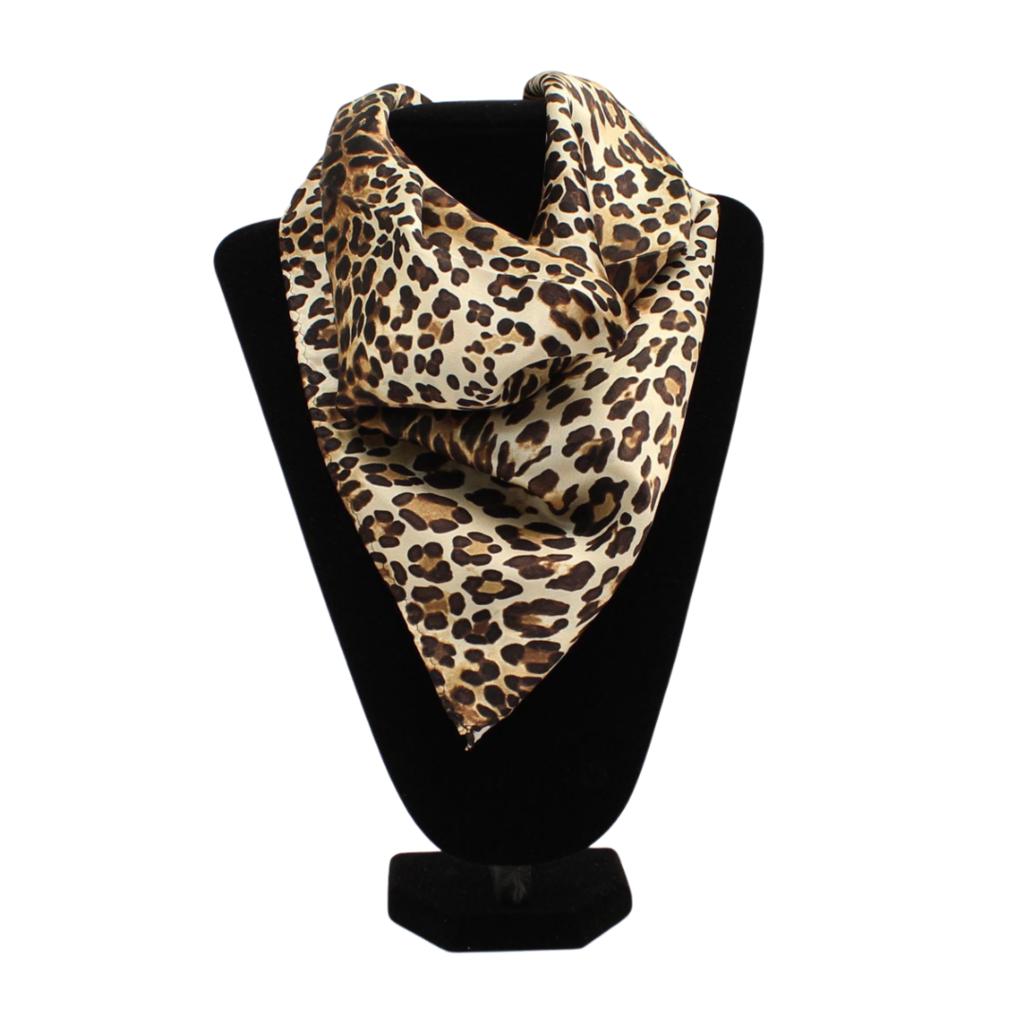M&F Western | Silk Scarf, Leopard Brown