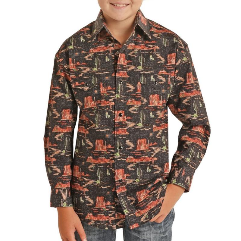 Rock and Roll Cowboy Rock & Roll Cowboy | Children's Snap Shirt
