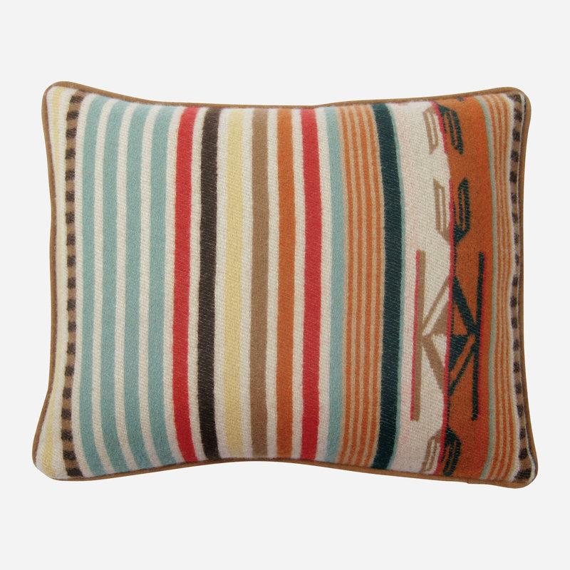 Pendleton Pendleton   Jacquard Pillow   12 x 15   Chimayo   Coral