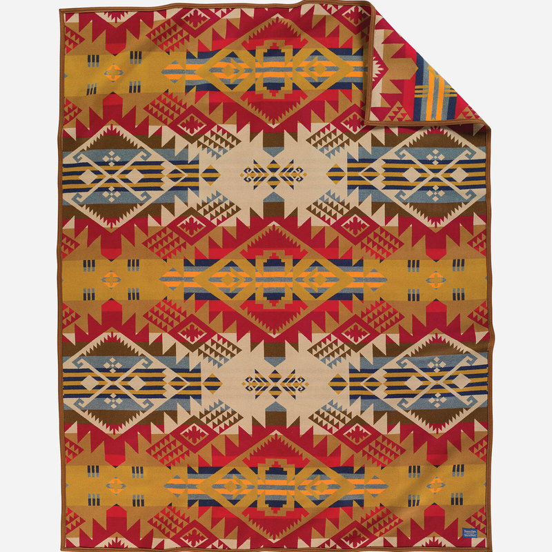 Pendleton Jacquard Unnapped Robe | Twin | Journey West | Gold
