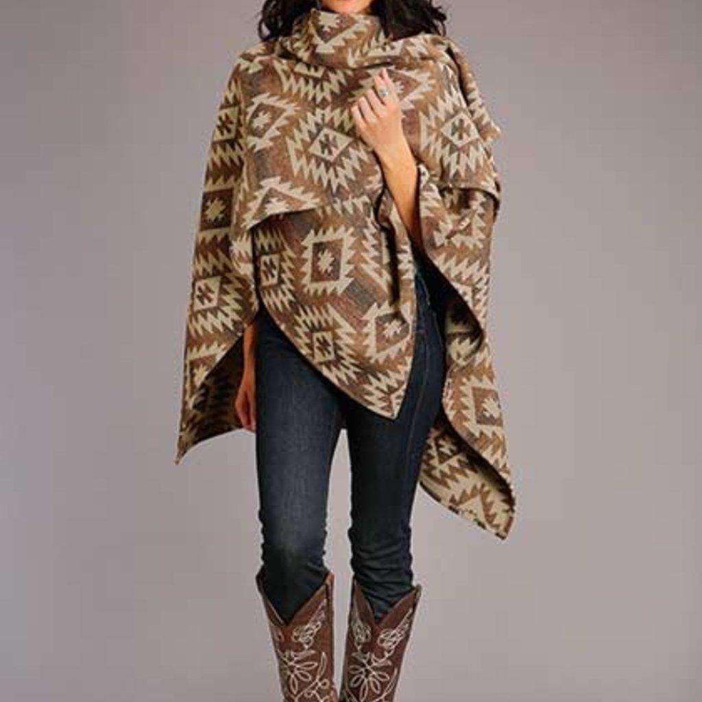 Stetson   Aztec Blanket Wrap   Brown