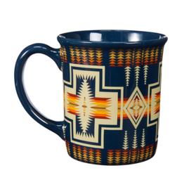 Pendleton 18 oz Ceramic Mug   Harding   Navy