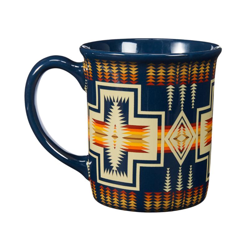 Pendleton Pendleton   18 oz Ceramic Mug   Harding   Navy