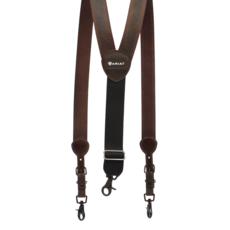 Ariat | Pebbled Brown Suspenders