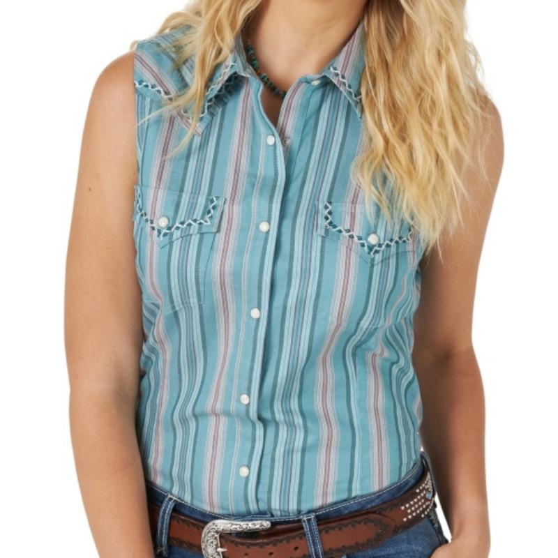 Wrangler | Sleeveless Western Vintage Shirt