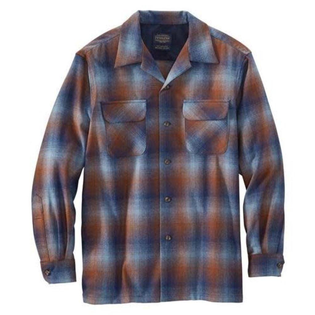 Pendleton Board Shirt |  Blue + Brown Ombre