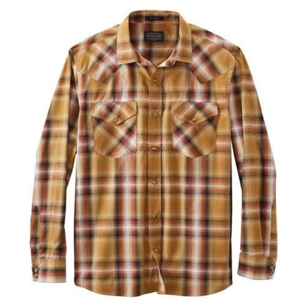 Pendleton Pendleton | Frontier Shirt |  Red +Brown Plaid