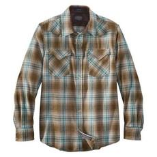 Pendleton Canyon Shirt | Brown + Green Plaid