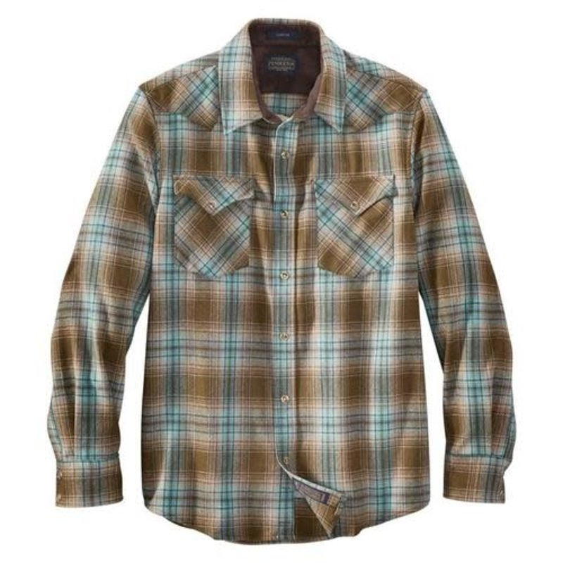 Pendleton Pendleton | Canyon Shirt | Brown + Green Plaid