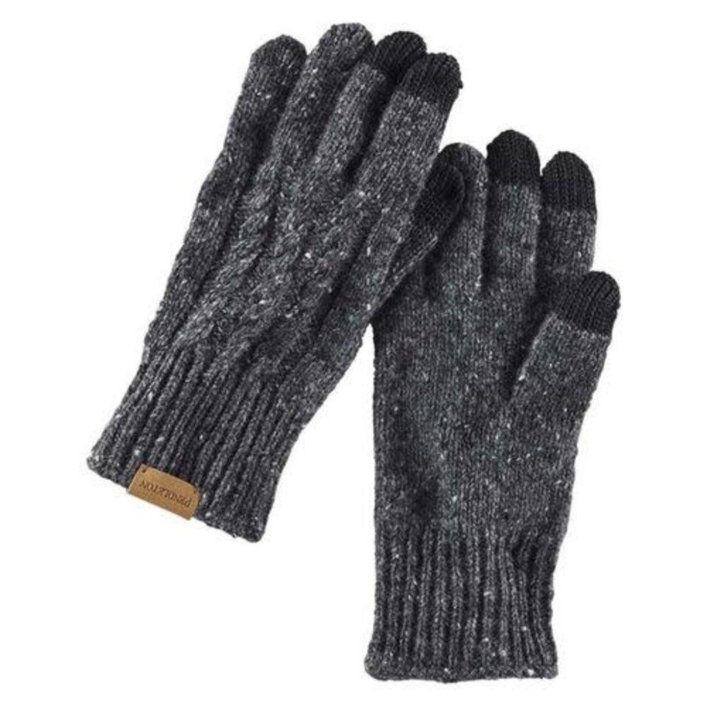 Pendleton Pendleton   Cable Texting Glove   Black