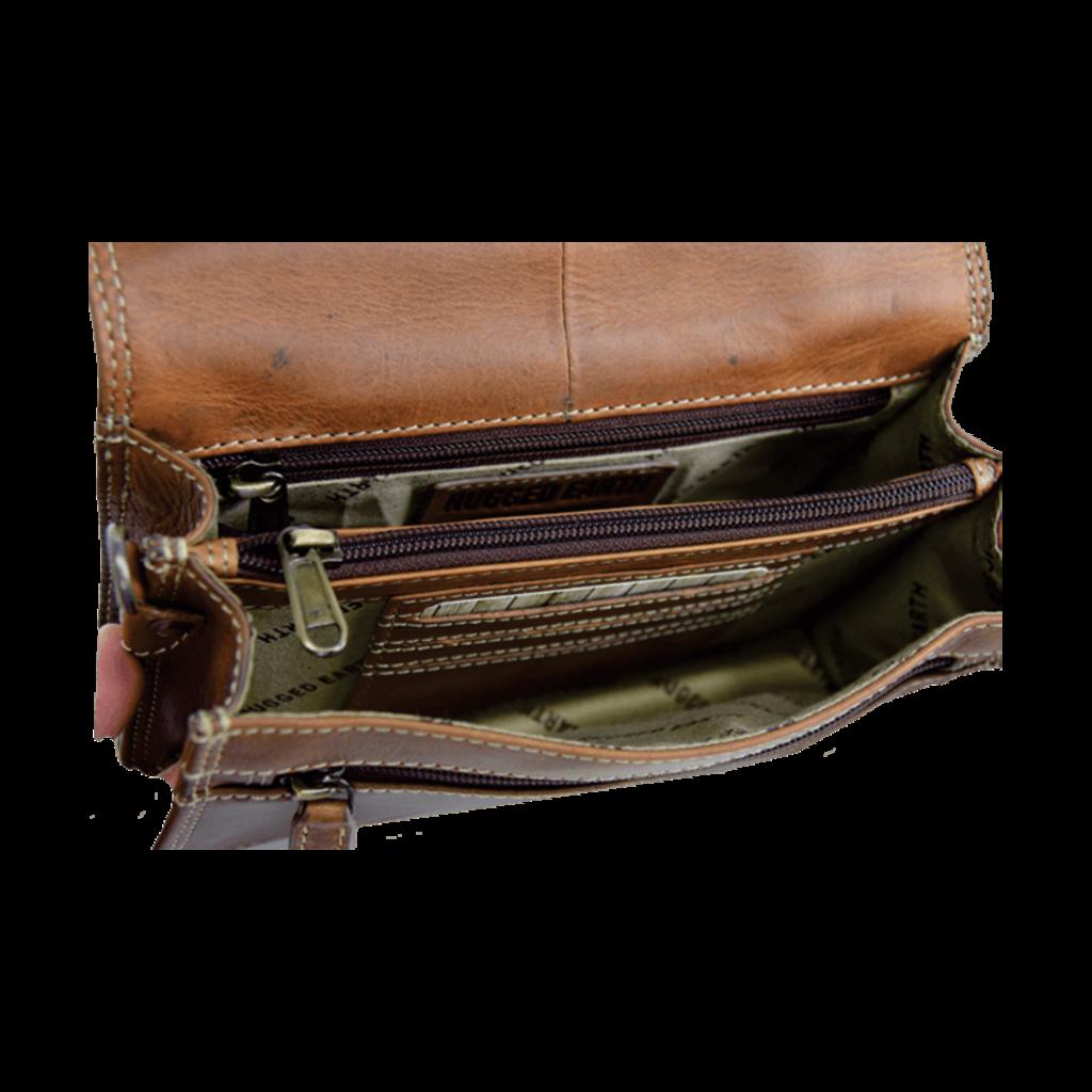 Rugged Earth | Brown Leather Organizer Purse