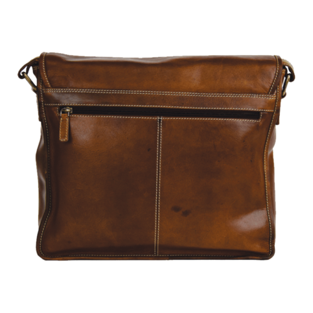 Rugged Earth | Leather Messenger Bag