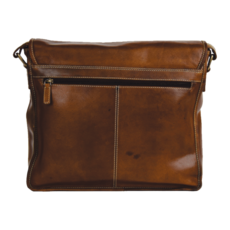 Rugged Earth   Leather Messenger Bag   Brown