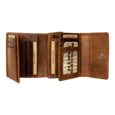 Rugged Earth | Brown Mid Size Leather Wallet | Brown
