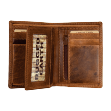 Rugged Earth | Trifold Leather Wallet