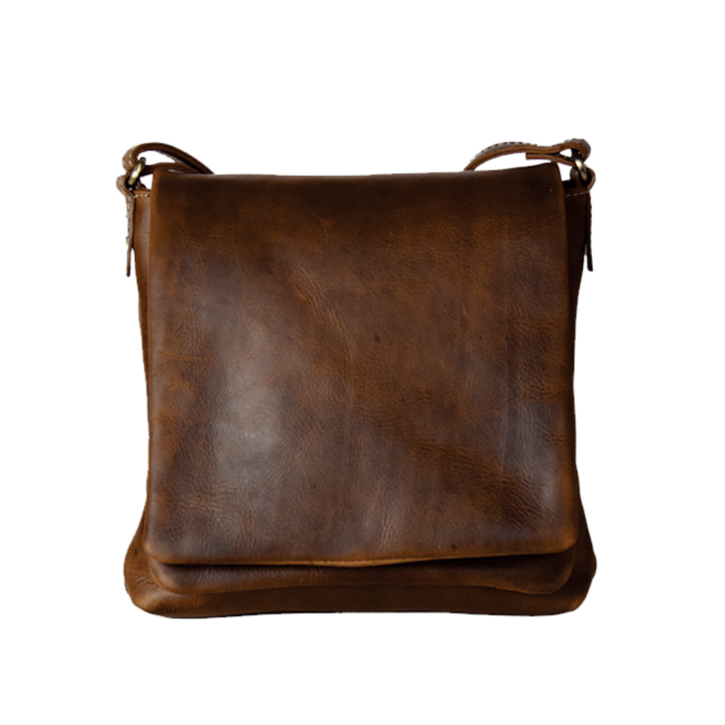Small Compact Leather Purse | Brown