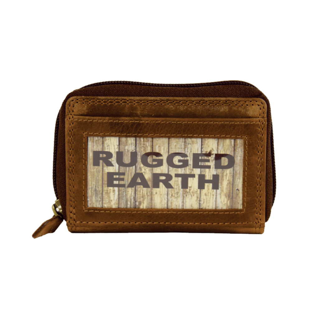 Rugged Earth   Leather Credit Card Wallet