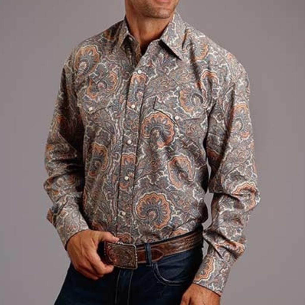 Stetson | Sand Paisley Snap Shirt