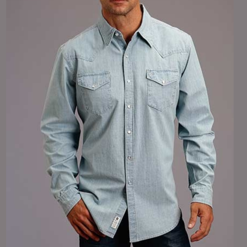 Stetson | Denim L/S Snap Shirt