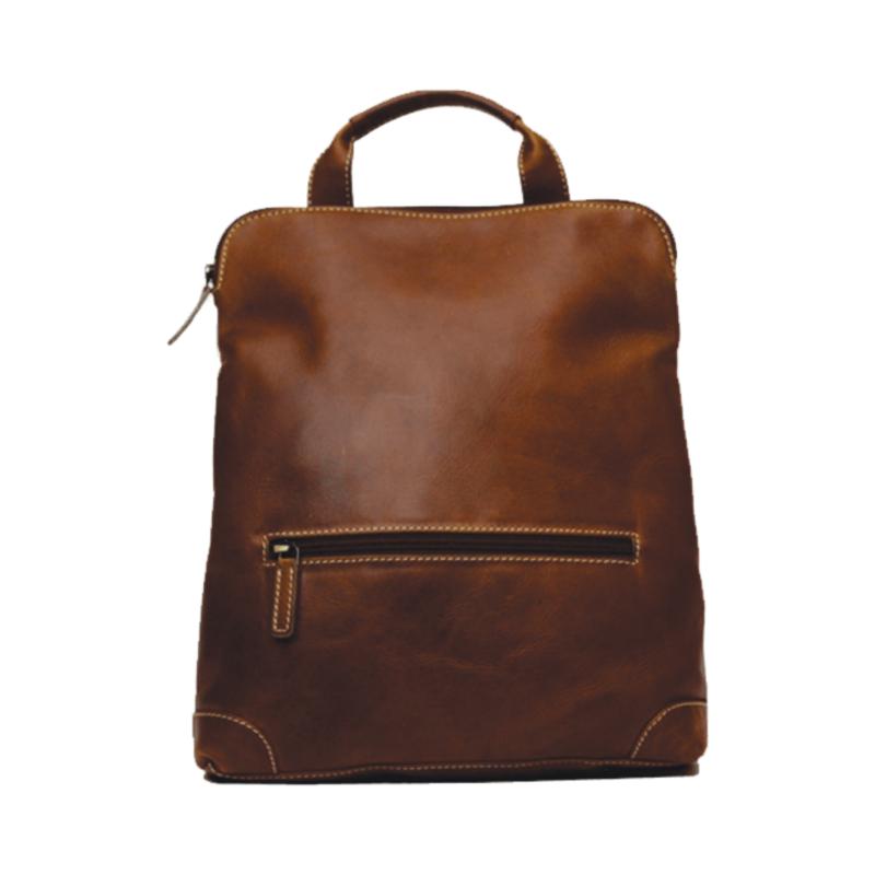 Rugged Earth   Leather Backpack