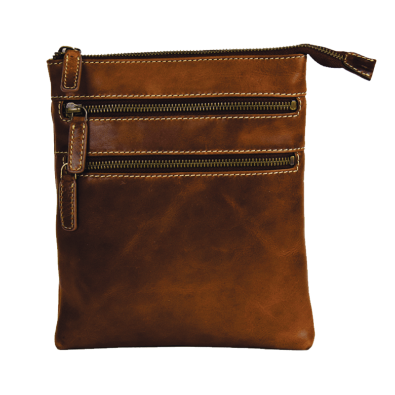 Zip Leather Purse | Brown