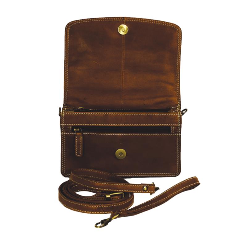 Brown Leather Organizer Purse