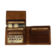 Rugged Earth   Bifold Leather Wallet   Brown